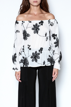 Shoptiques Product: Embroidered Peplem Top
