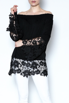 Shoptiques Product: Lace Off Shoulder Blouse