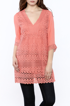 Shoptiques Product: Coral Lace Tunic Top