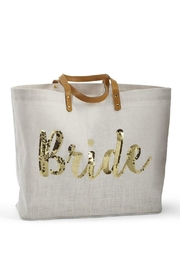GLITZ & GLAM Bride Sequin Tote - Front cropped