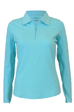 GLITZ & GLAM Turquoise Cooling Golf Polo - Alternate List Image