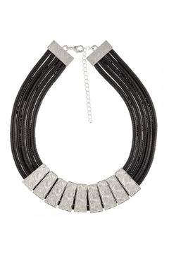 GLITZ & GLAM Silver Leather Choker - Product List Image