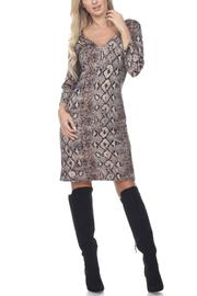 Glitz & Glam Boutique Brown Snake Print - Front cropped