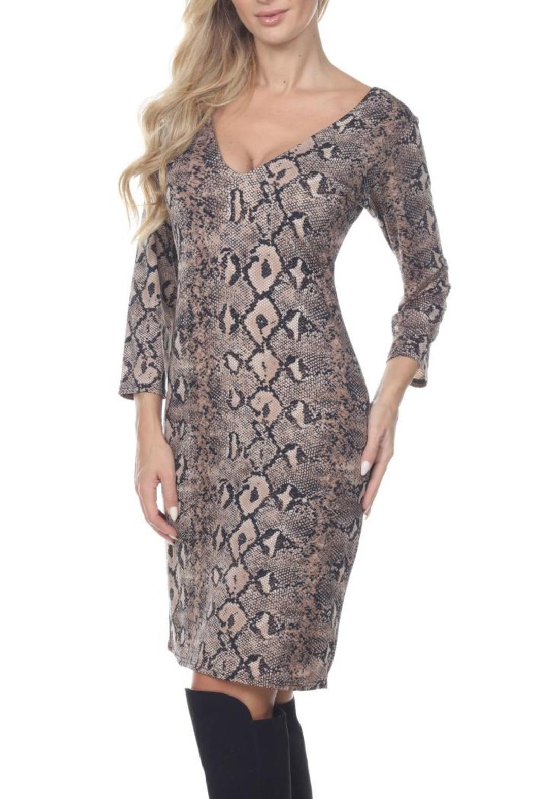 Glitz & Glam Boutique Brown Snake Print - Front Full Image