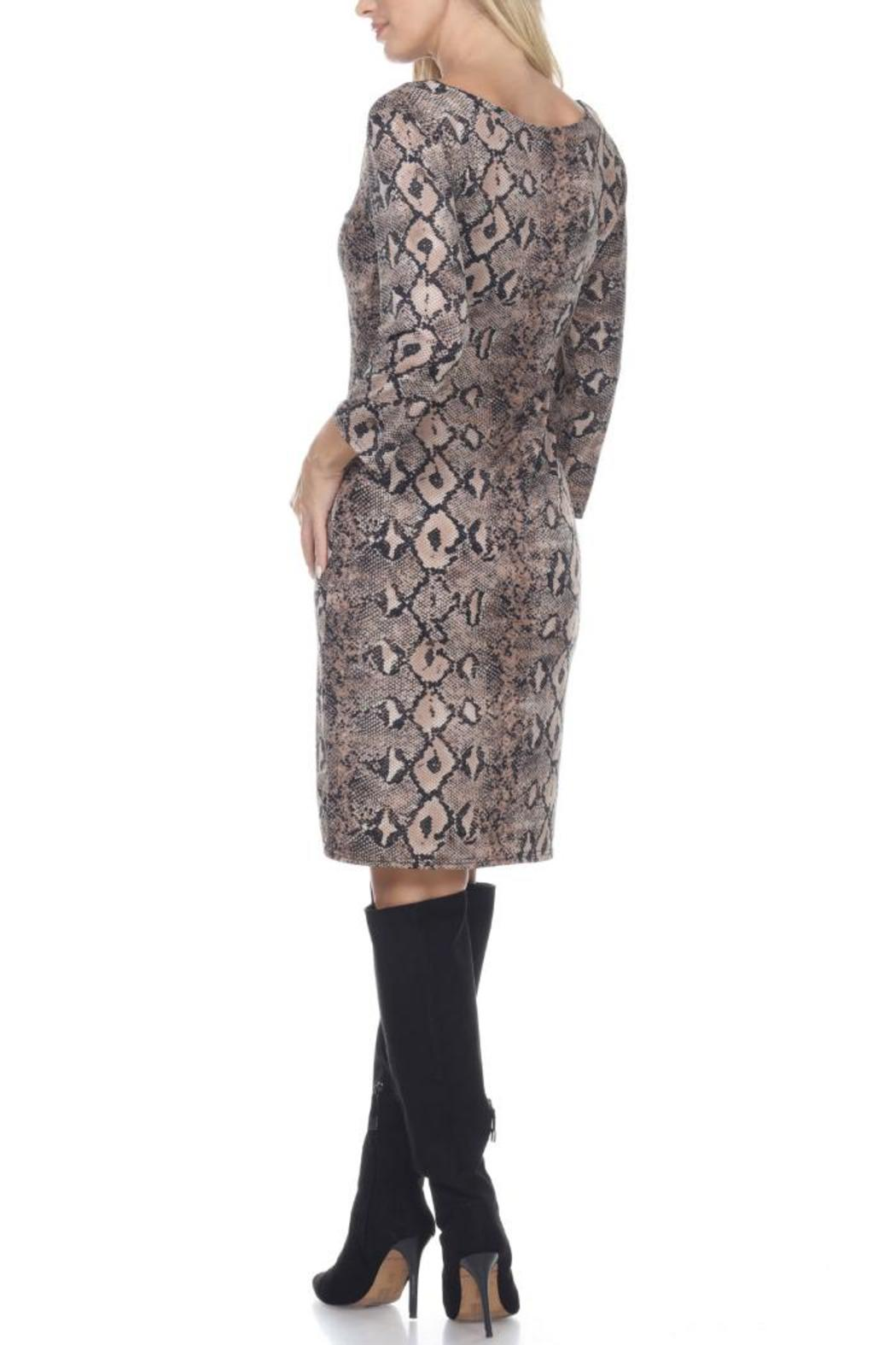 Glitz & Glam Boutique Brown Snake Print - Side Cropped Image