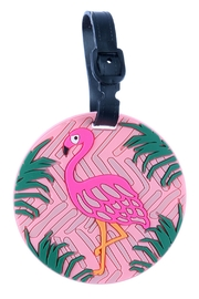 Glitz & Glam Boutique Flamingo Luggage Tag - Product Mini Image