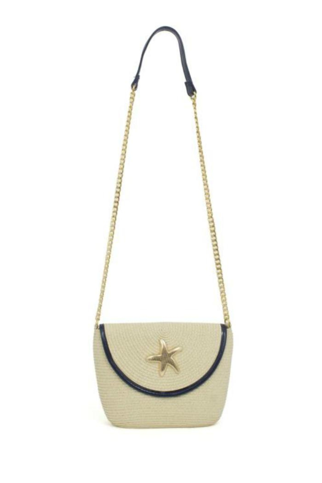 Glitz & Glam Boutique Starfish Straw Bag - Main Image