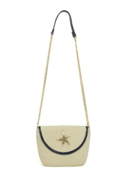 Glitz & Glam Boutique Starfish Straw Bag - Front cropped