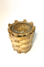 Global Bamboo Candle Holder - Front cropped