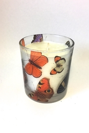 Global Butterfly Glass Candle - Product Mini Image