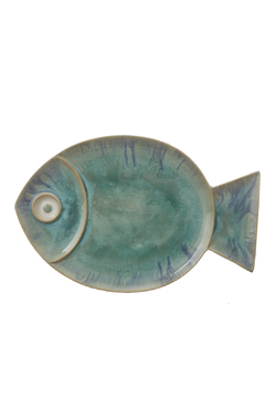 Global Views Large Blue Fish Plate - Product List Image