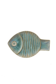 Global Views Medium Blue Fish Plate - Product Mini Image