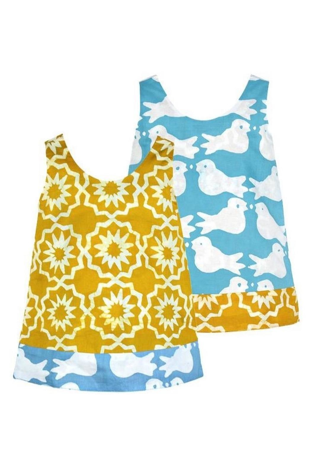 Global Mamas Organic Reversible Dress - Front Cropped Image