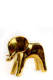 Global Views Gold Elephant Statuette - Front full body