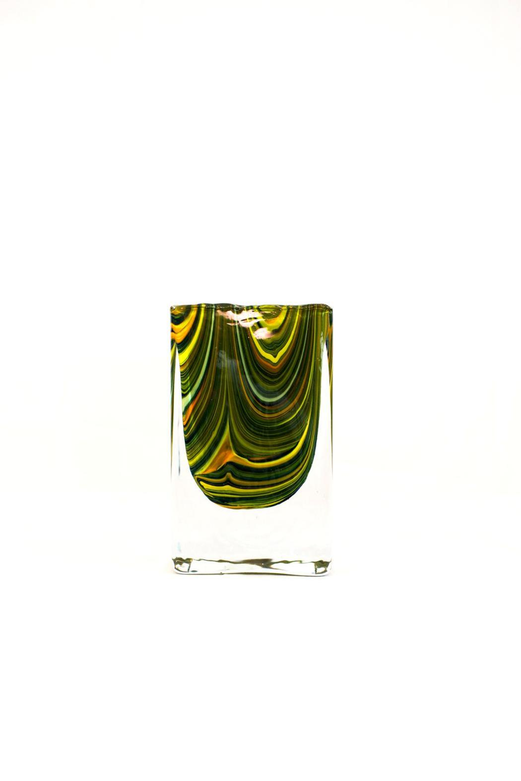 Global Views Marbleized Block Vase - Main Image