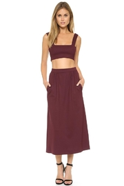 Torn by Ronny Kobo Glory Bordeaux Skirt - Product Mini Image