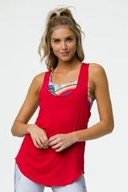 Onzie Glossy Flow Tank - Front cropped