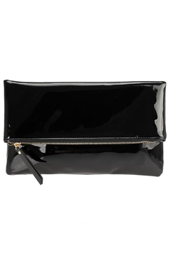 joseph d'arezzo Glossy Foldover Clutch - Alternate List Image