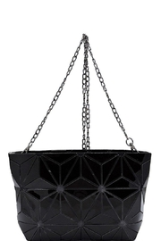 Isabelle Glossy Geometric Crossbody Bag - Product Mini Image