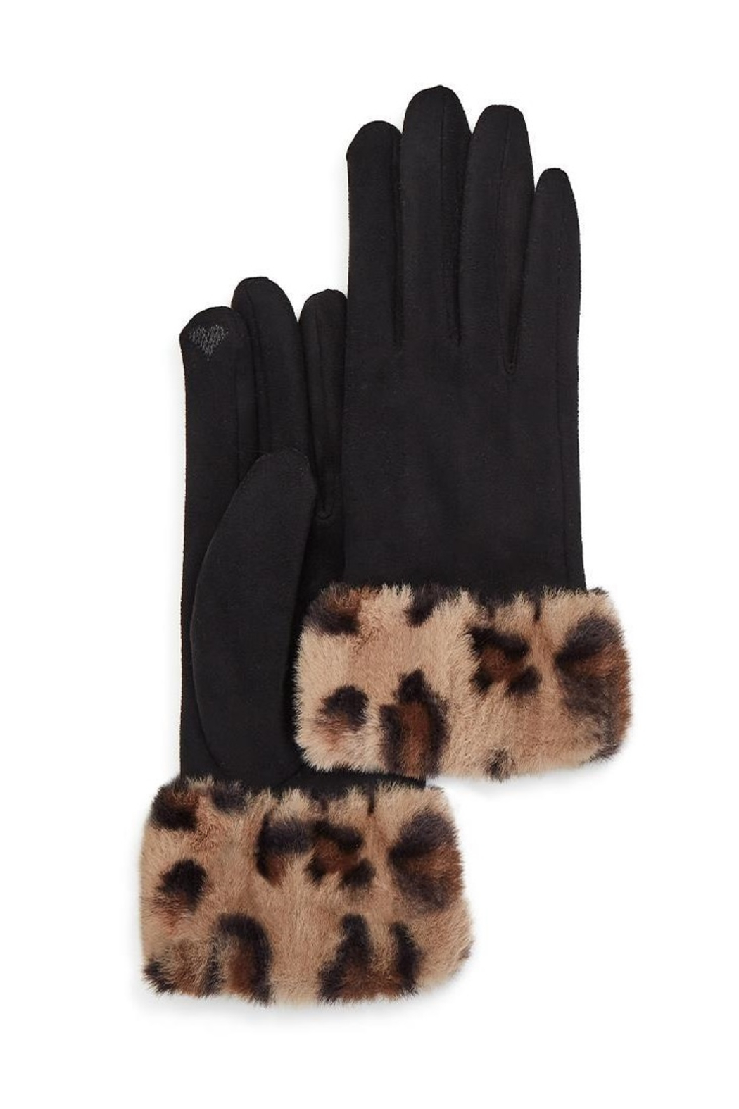Two's Company Glove w/ Faux Fur Cuff - Front Full Image