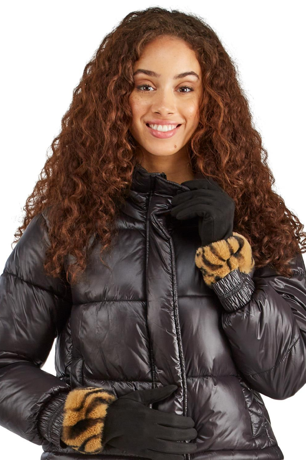 Two's Company Glove w/ Faux Fur Cuff - Side Cropped Image