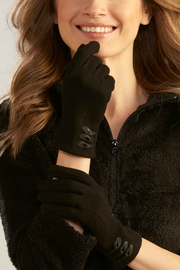 Giftcraft Inc.  Gloves w Leather Detail - Product Mini Image