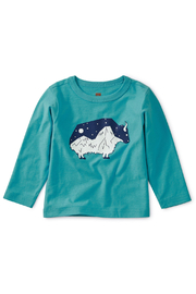 Tea Collection Glow in the Dark Baby Yak Tee - Front cropped