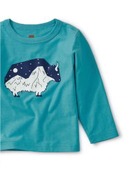 Tea Collection Glow in the Dark Baby Yak Tee - Front full body