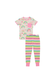 Deux Par Deux Glow In The Dark Rainbow PJ Set - Product Mini Image
