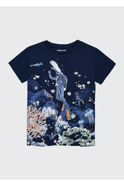 Mayoral Glow In The Dark Scuba Shirt - Front cropped
