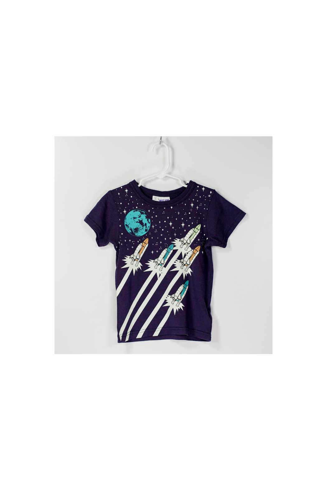Bit'z Kids Glow In The Dark Space Trip Tee - Front Cropped Image