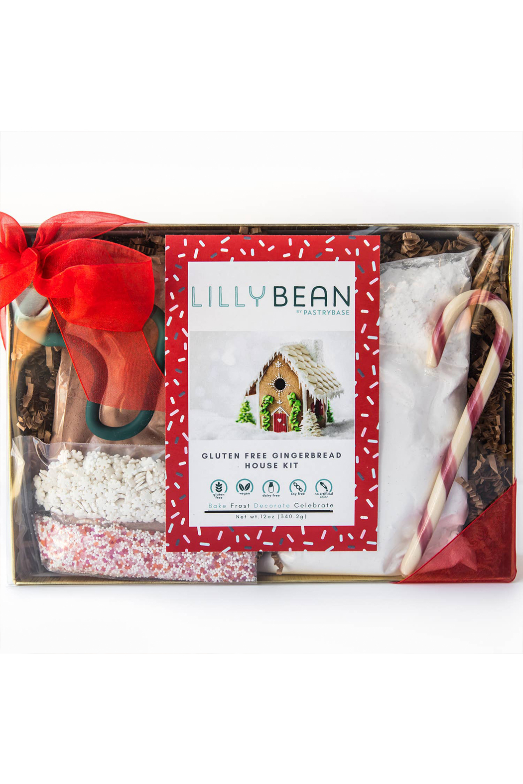 Lillybean by Pastry Base Gluten-Free Gingerbread House Baking Kit (Vegan!) - Main Image