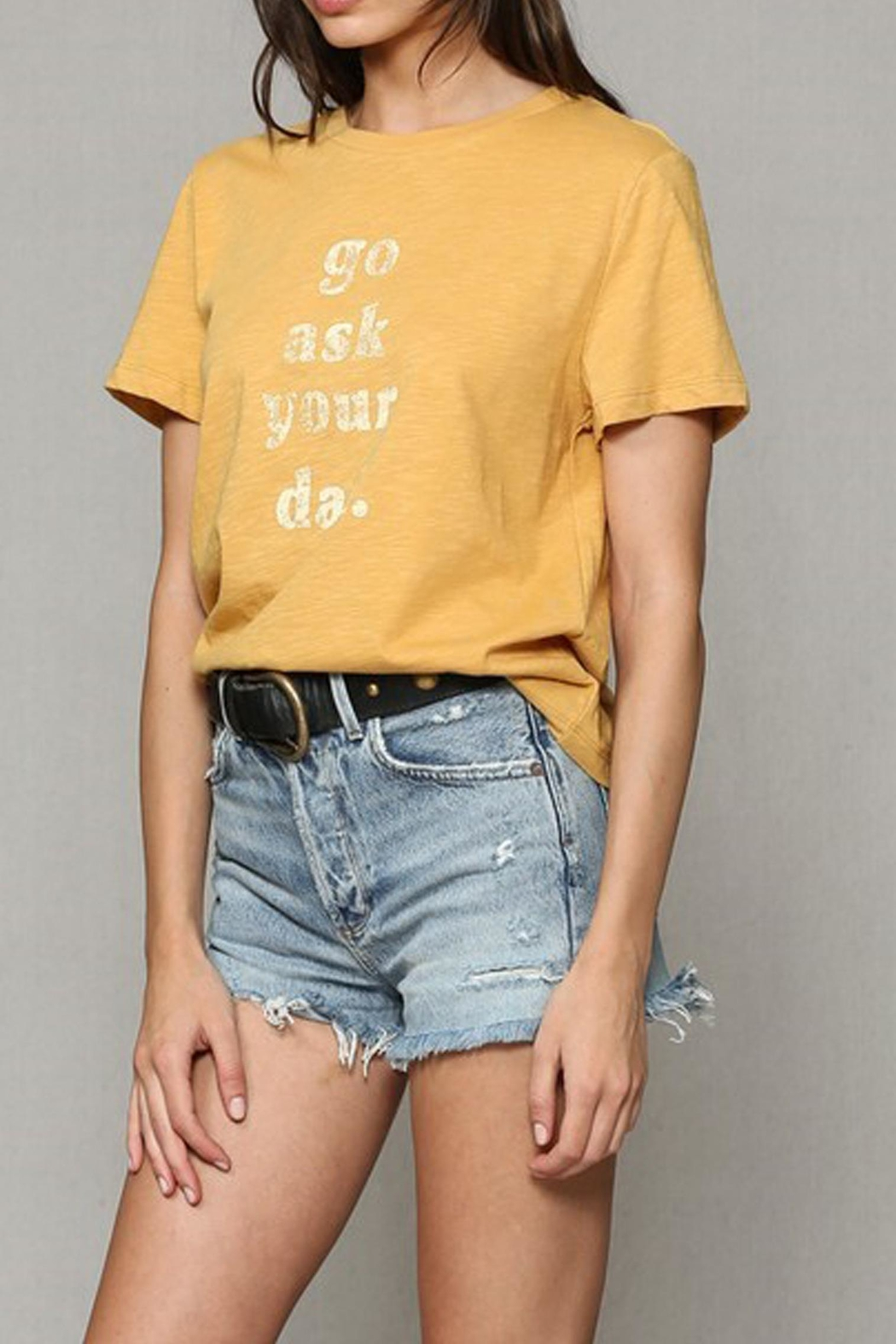 Blank Paige Go-Ask-Your-Dad Tee - Side Cropped Image