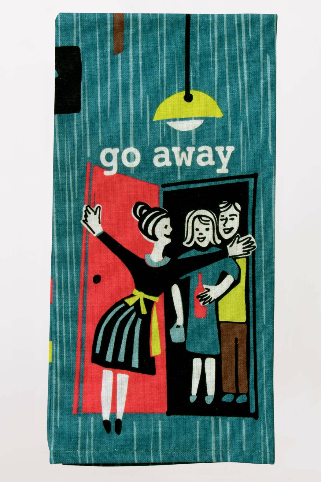 Blue Q Go Away Dish Towel - Front Cropped Image