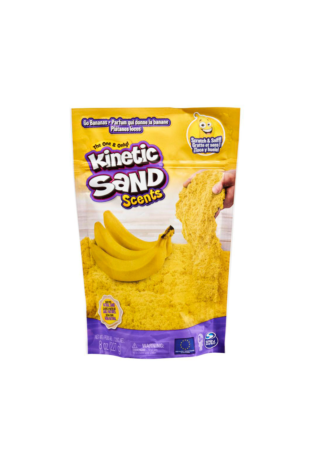 Kinetic Sand Go Bananas Scents 8oz - Front Cropped Image