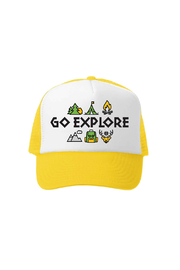 Grom Squad Go Explore Bend Oregon Trucker Hat - Front cropped