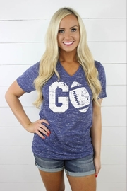 Glittering South Go Football Tee - Front cropped