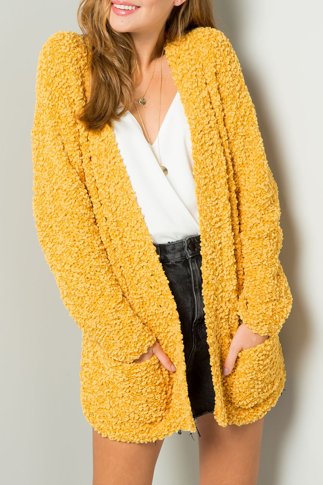 Umgee USA Go For Gold cardigan - Front Full Image
