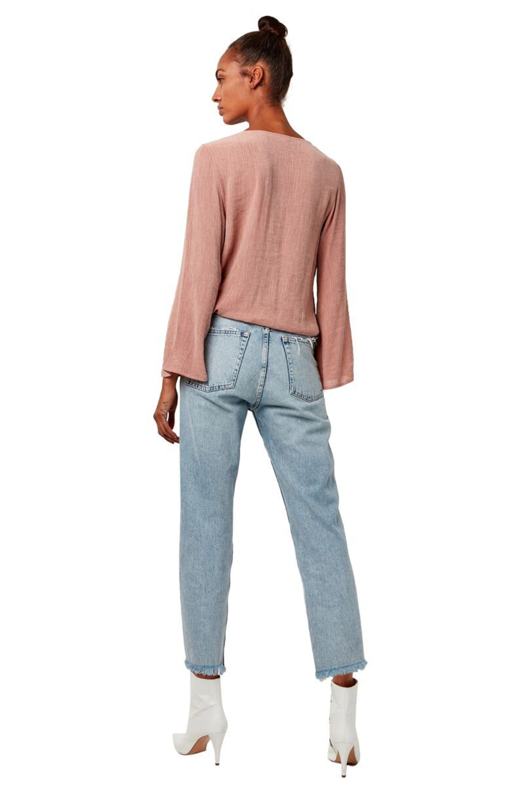 Astars Go To Surplice Wrap Blouse - Side Cropped Image