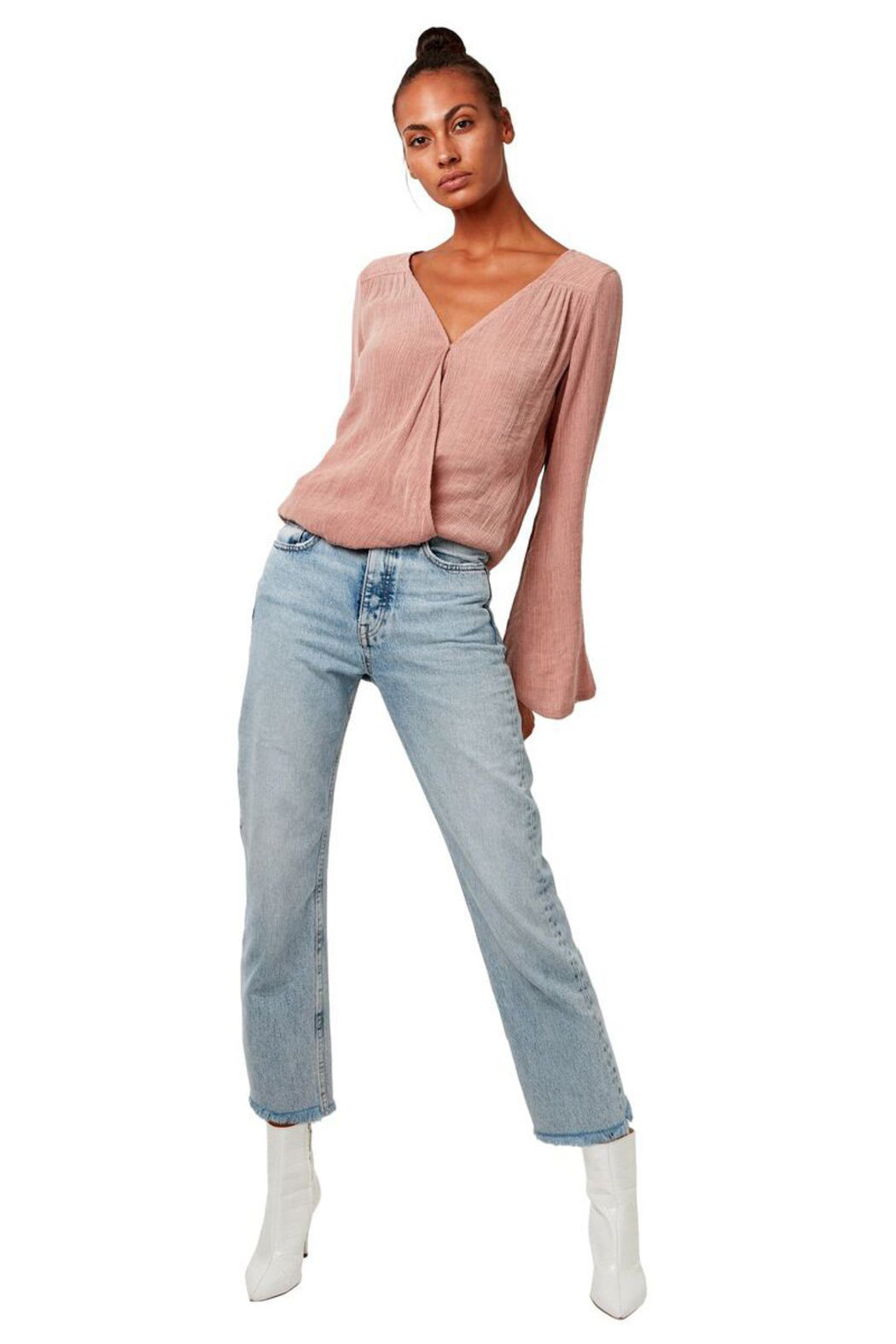 Astars Go To Surplice Wrap Blouse - Front Full Image