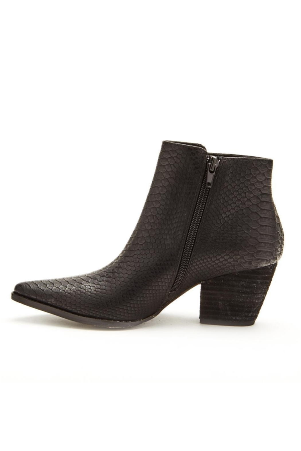 Matisse Go West Croc Pointed Toe Booties - Side Cropped Image