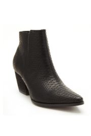 Matisse Go West Croc Pointed Toe Booties - Front cropped