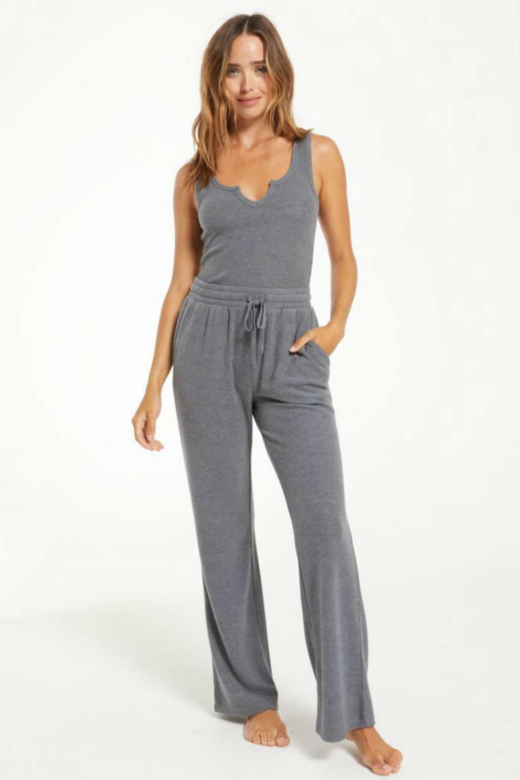 z supply Go With The Flow Pant - Back Cropped Image