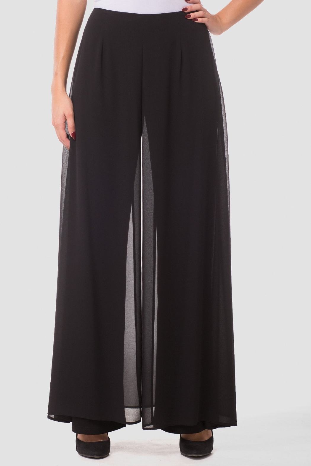 Joseph Ribkoff  Go with the Flow Wide Leg Pants - Front Full Image