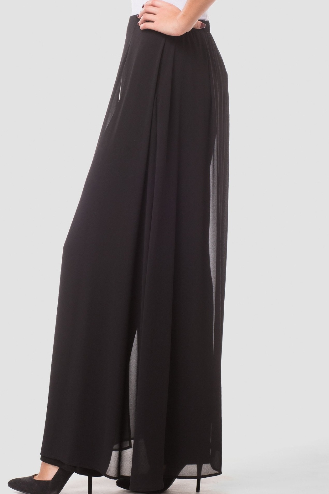 Joseph Ribkoff  Go with the Flow Wide Leg Pants - Back Cropped Image