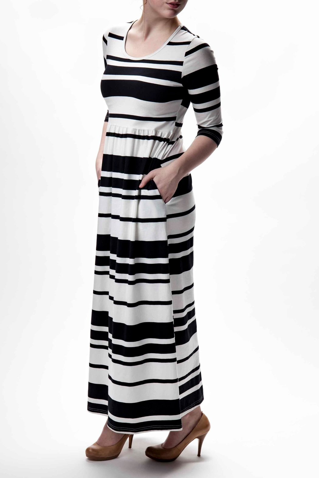 46c0c1ae78a Go 2 Stripe Print Maxi Dress from Canada by JEMS — Shoptiques