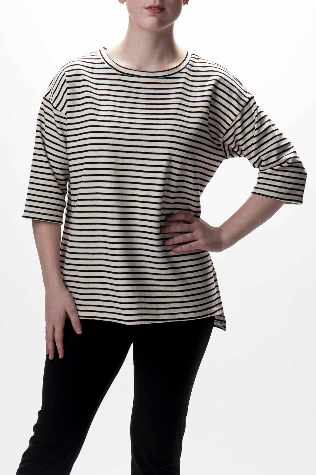 Go 2 Stripe Print Summer Sweater from Canada by JEMS — Shoptiques