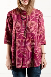 Go Fish Clothing Batik Swing Blouse - Front cropped