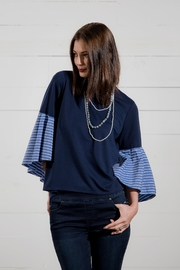 Go Fish Clothing Bell Sleeve Blouse - Back cropped