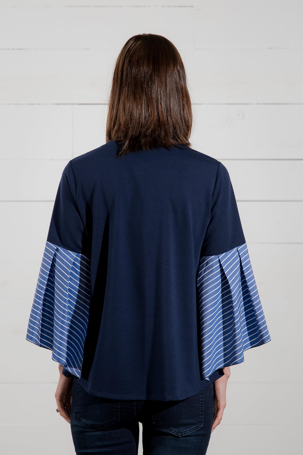 Go Fish Clothing Bell Sleeve Blouse - Side Cropped Image